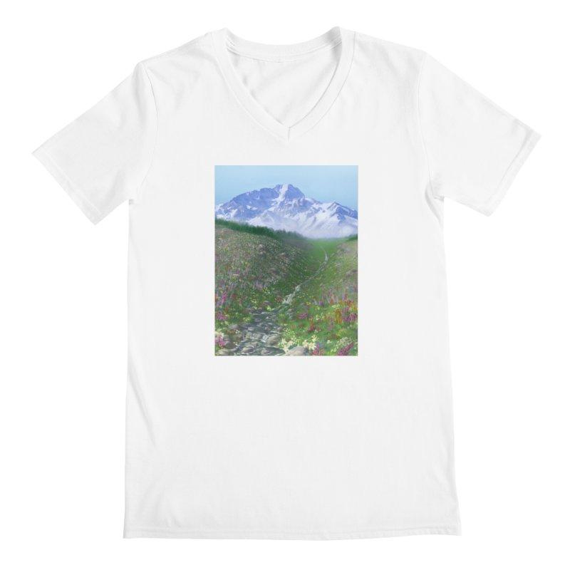 Alpine Meadow Men's V-Neck by farorenightclaw's Shop
