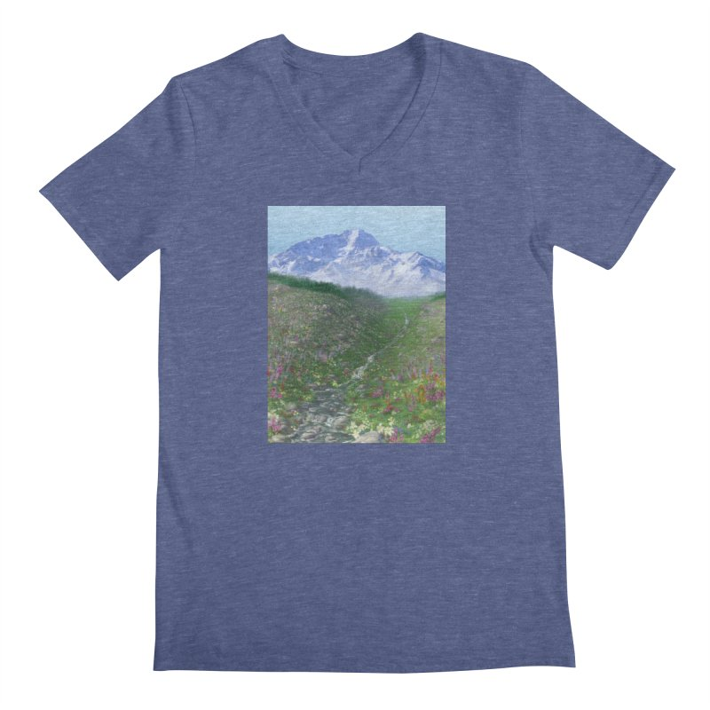 Alpine Meadow Men's Regular V-Neck by farorenightclaw's Shop