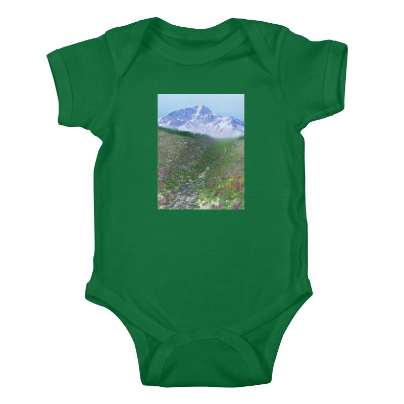 Alpine Meadow Kids Baby Bodysuit by farorenightclaw's Shop