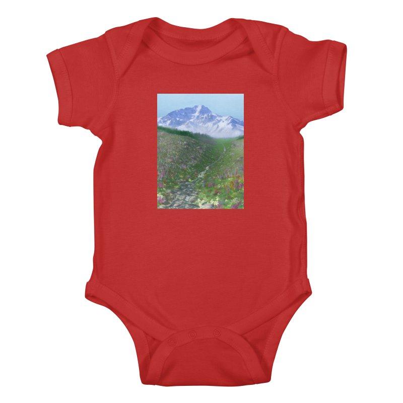 Alpine Meadow Kids Baby Bodysuit by farorenightclaw's Shop