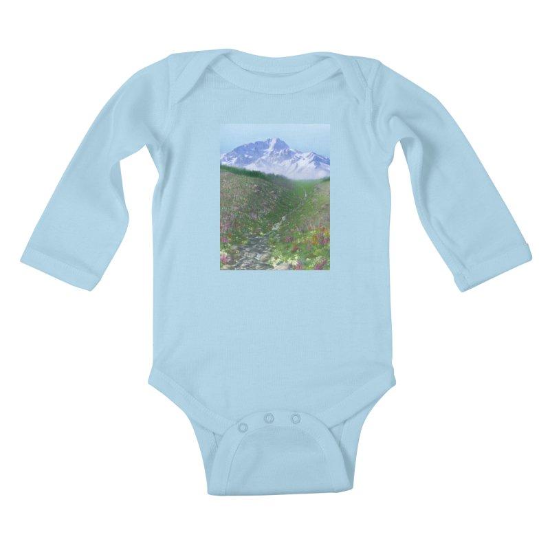 Alpine Meadow Kids Baby Longsleeve Bodysuit by farorenightclaw's Shop