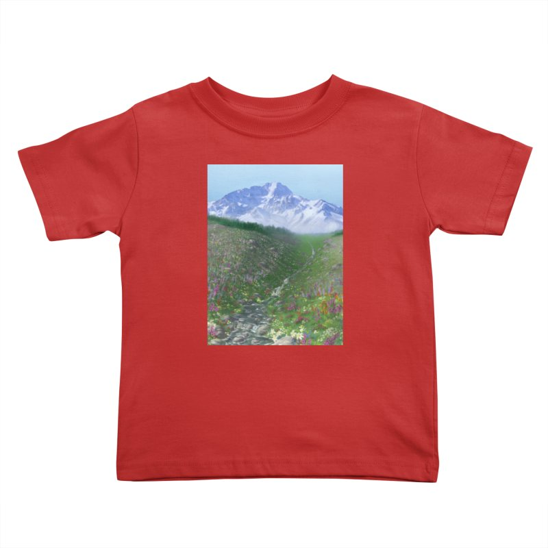 Alpine Meadow Kids Toddler T-Shirt by farorenightclaw's Shop