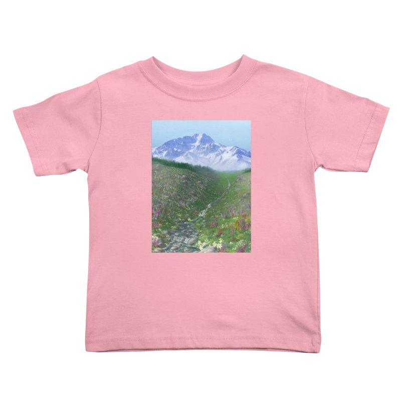 Alpine Meadow Kids Toddler T-Shirt by farorenightclaw's Shop