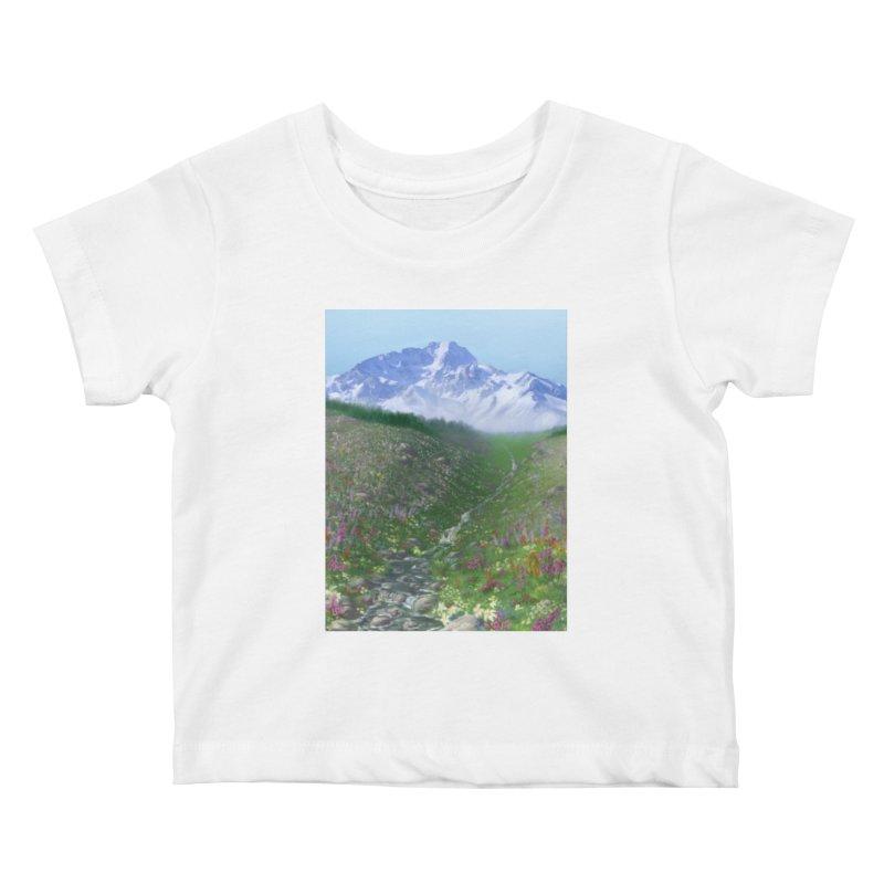 Alpine Meadow Kids Baby T-Shirt by farorenightclaw's Shop