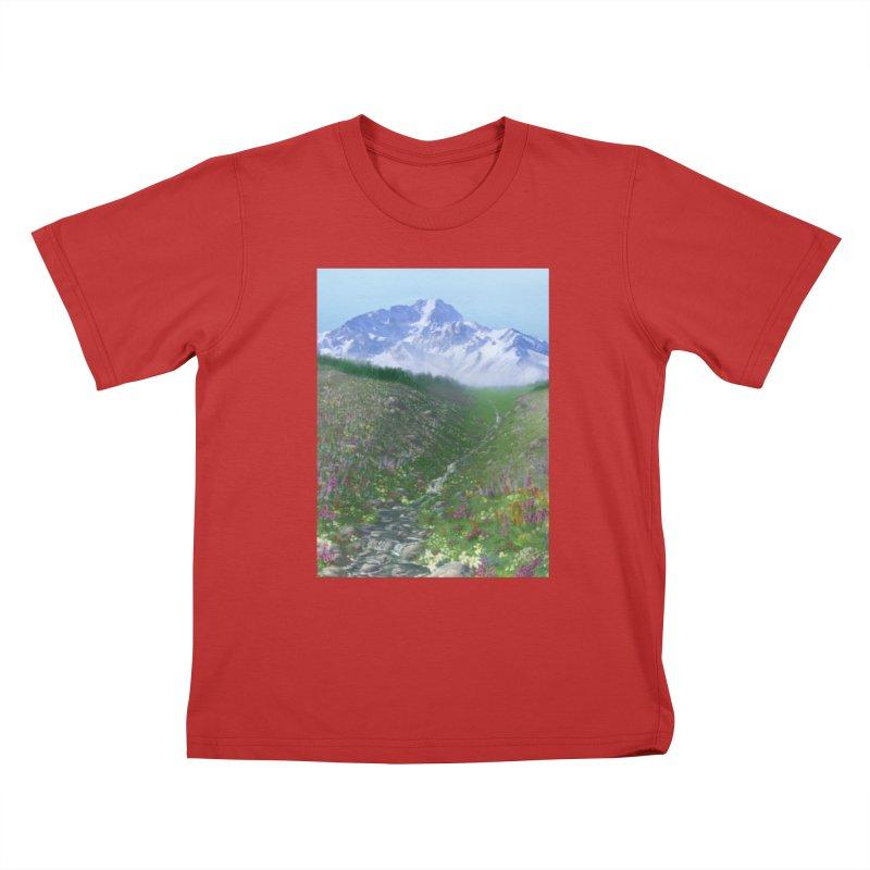 Alpine Meadow Kids T-Shirt by farorenightclaw's Shop