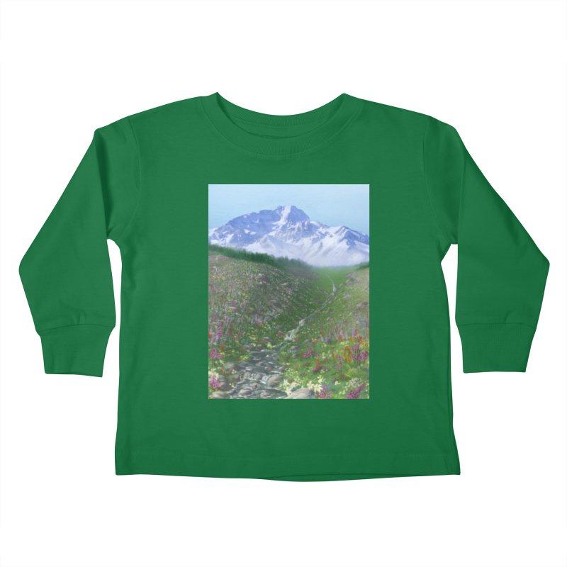 Alpine Meadow Kids Toddler Longsleeve T-Shirt by farorenightclaw's Shop