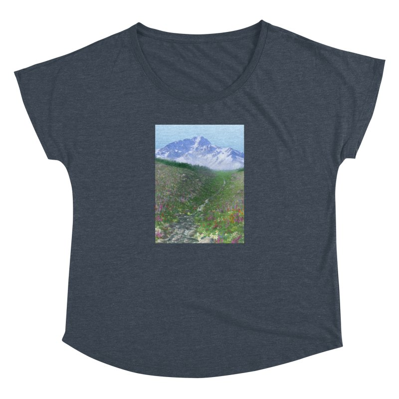 Alpine Meadow Women's Dolman Scoop Neck by farorenightclaw's Shop