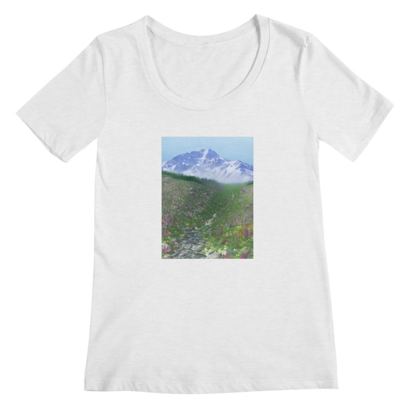 Alpine Meadow Women's Regular Scoop Neck by farorenightclaw's Shop
