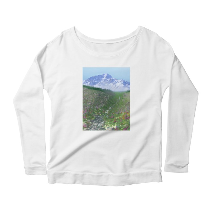 Alpine Meadow Women's Scoop Neck Longsleeve T-Shirt by farorenightclaw's Shop