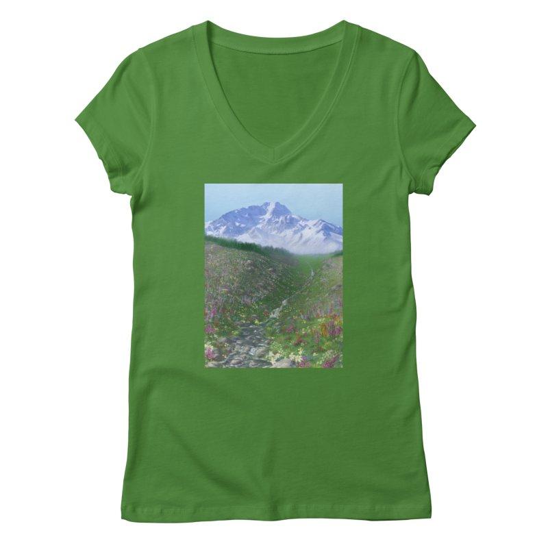 Alpine Meadow Women's Regular V-Neck by farorenightclaw's Shop