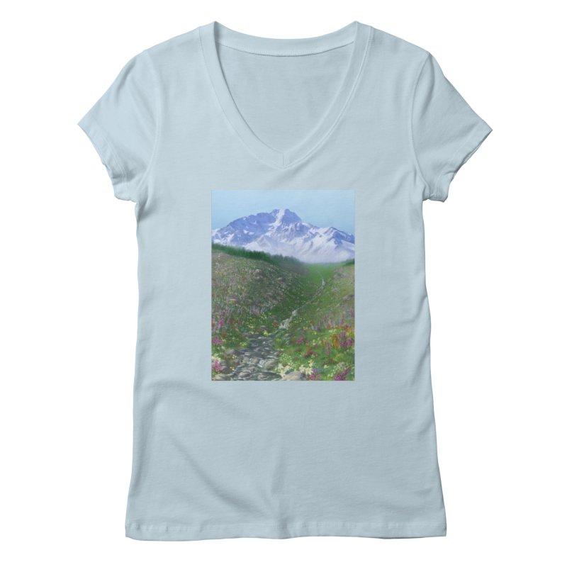Alpine Meadow Women's V-Neck by farorenightclaw's Shop