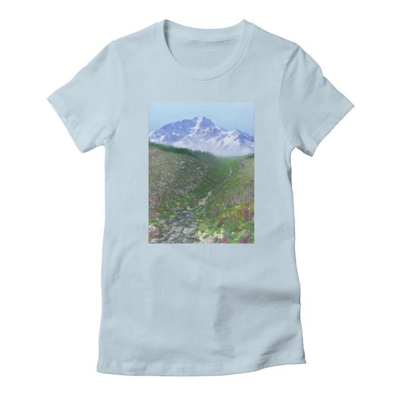 Alpine Meadow Women's Fitted T-Shirt by farorenightclaw's Shop