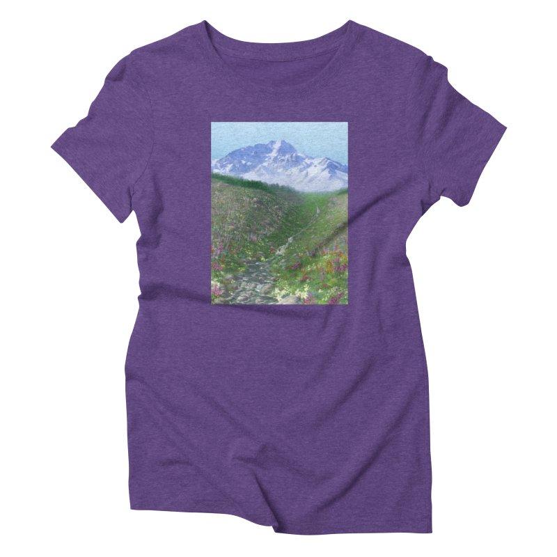 Alpine Meadow Women's Triblend T-Shirt by farorenightclaw's Shop