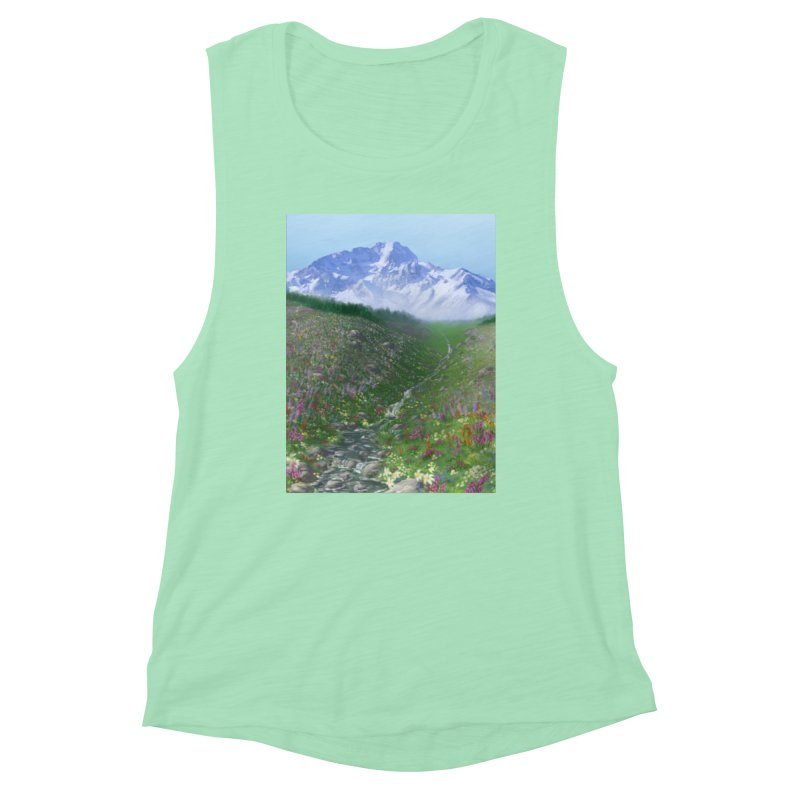 Alpine Meadow Women's Muscle Tank by farorenightclaw's Shop