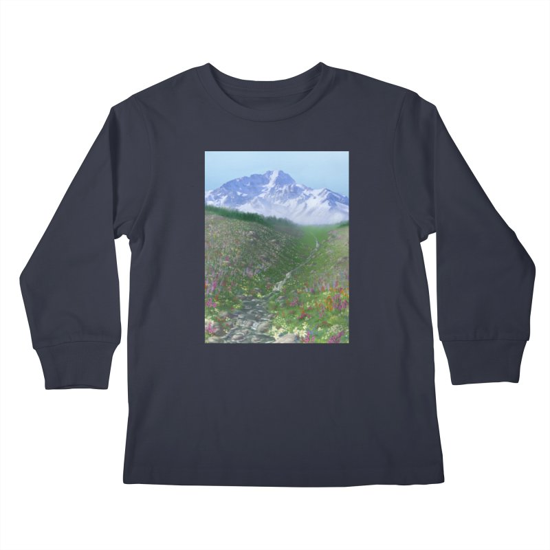 Alpine Meadow Kids Longsleeve T-Shirt by farorenightclaw's Shop