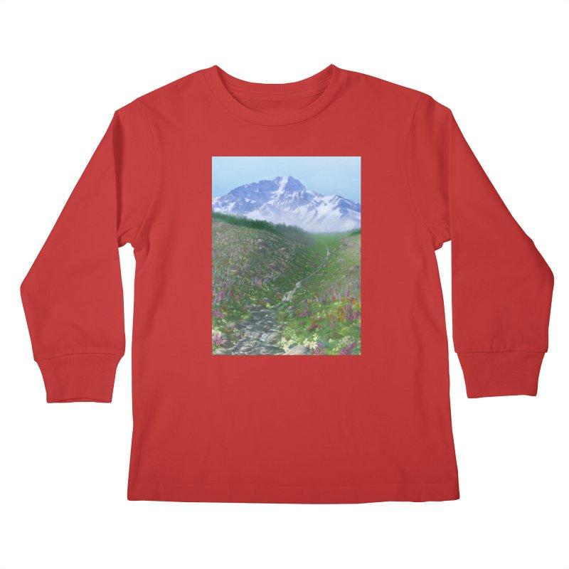 Alpine Meadow Kids Longsleeve T-Shirt by farorenightclaw's Shop