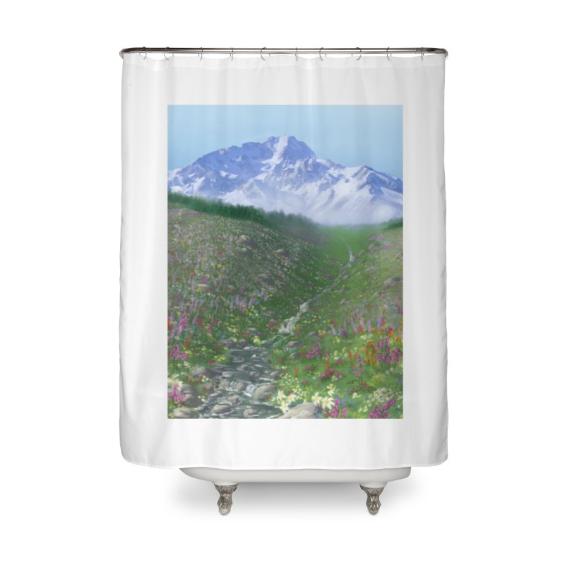 Alpine Meadow Home Shower Curtain by farorenightclaw's Shop