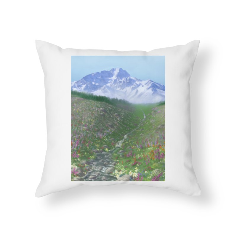 Alpine Meadow Home Throw Pillow by farorenightclaw's Shop