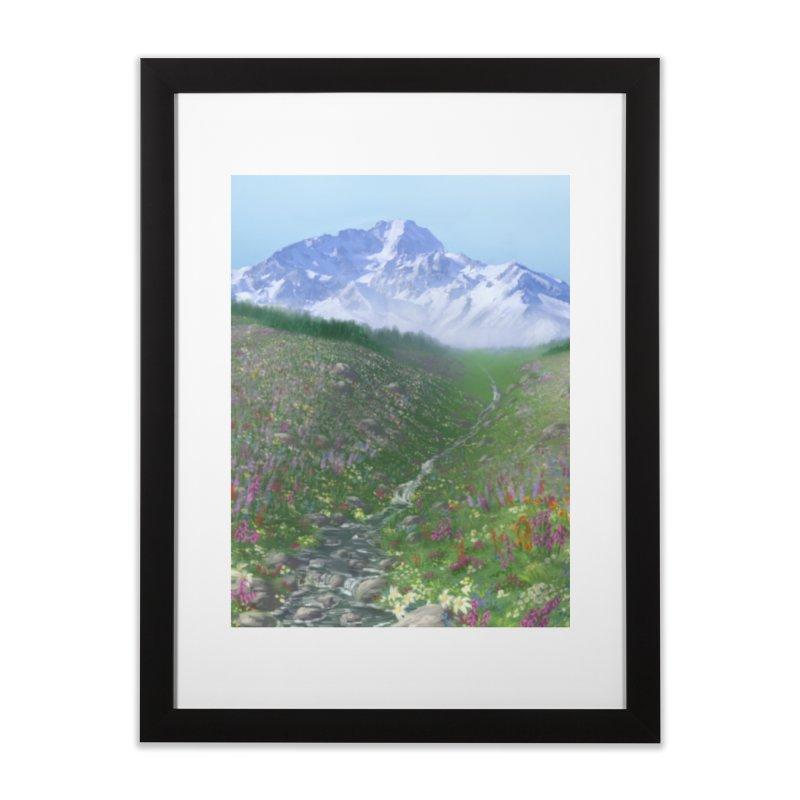 Alpine Meadow Home Framed Fine Art Print by farorenightclaw's Shop