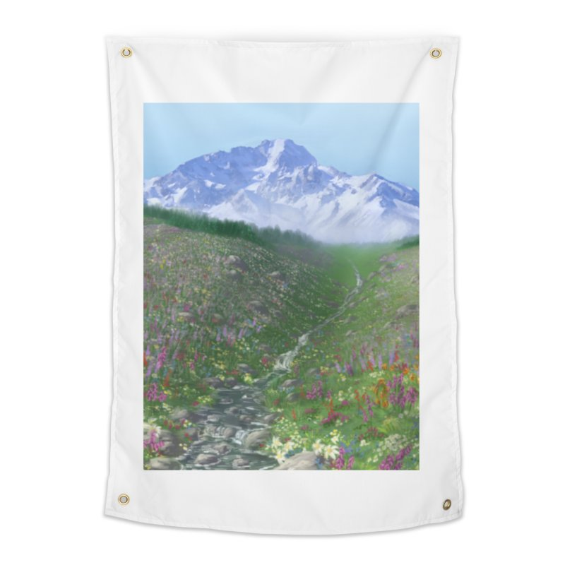 Alpine Meadow Home Tapestry by farorenightclaw's Shop