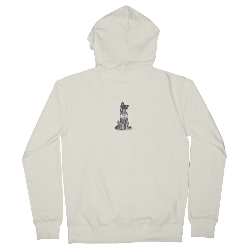 Wolf Pup Men's French Terry Zip-Up Hoody by farorenightclaw's Shop