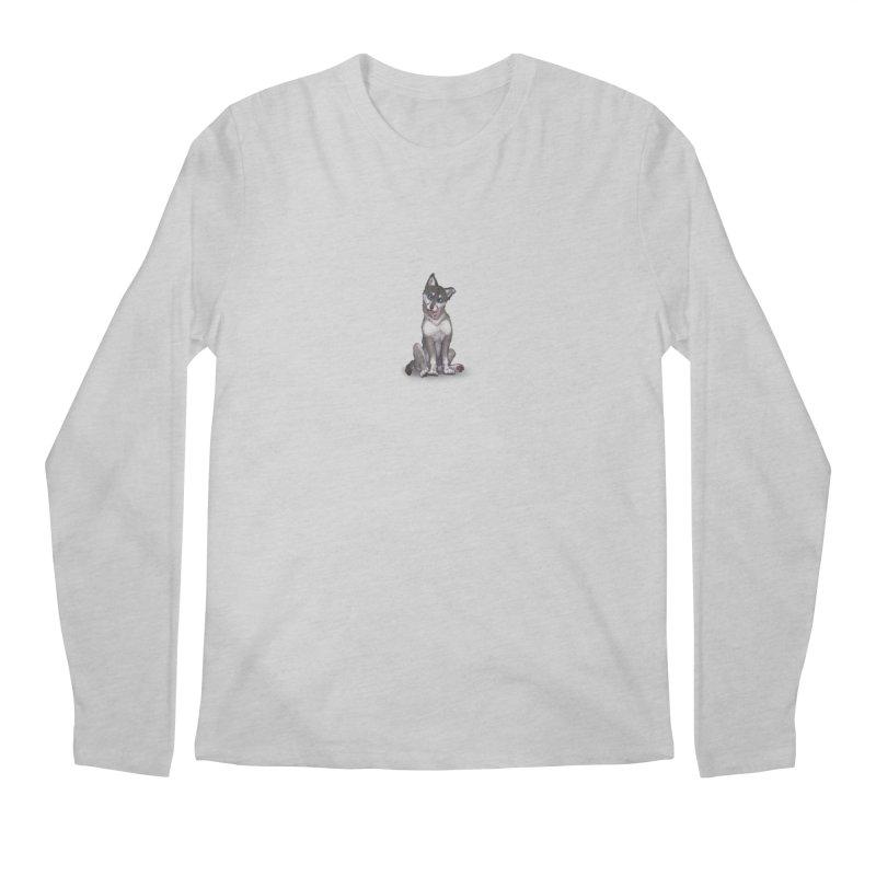 Wolf Pup Men's Regular Longsleeve T-Shirt by farorenightclaw's Shop