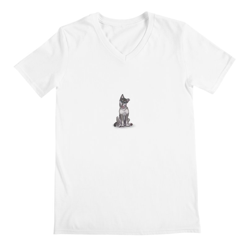 Wolf Pup Men's V-Neck by farorenightclaw's Shop