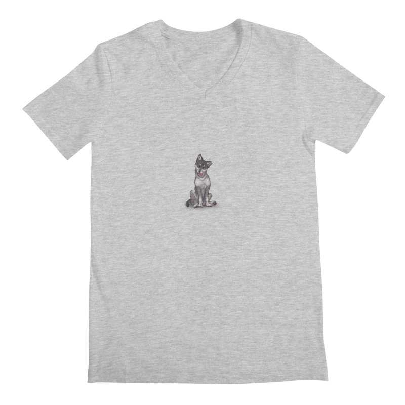 Wolf Pup Men's Regular V-Neck by farorenightclaw's Shop
