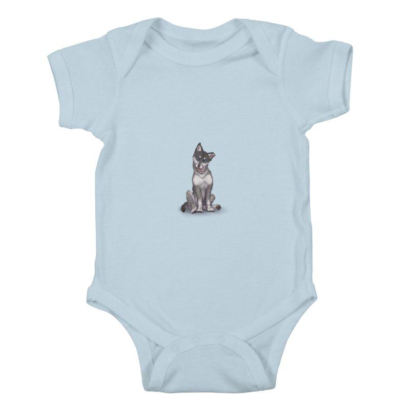 Wolf Pup Kids Baby Bodysuit by farorenightclaw's Shop