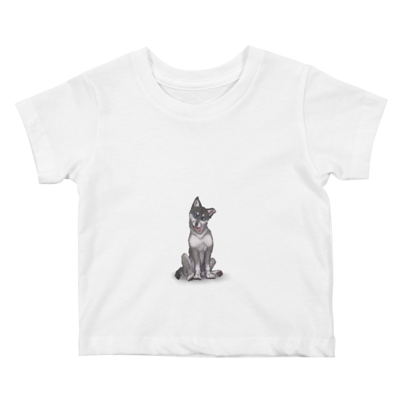 Wolf Pup Kids Baby T-Shirt by farorenightclaw's Shop