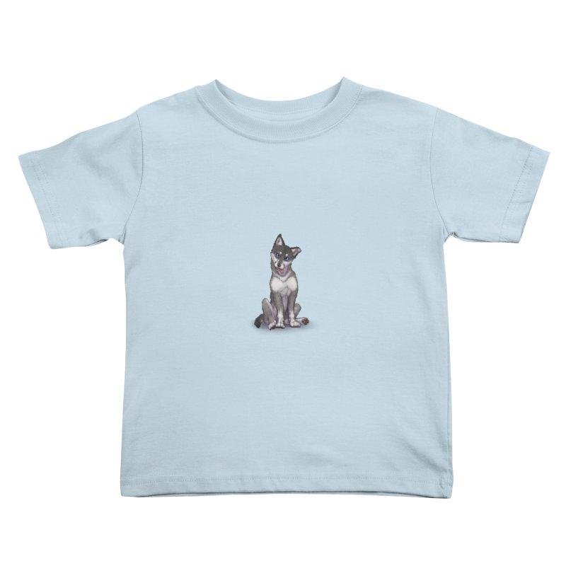 Wolf Pup Kids Toddler T-Shirt by farorenightclaw's Shop