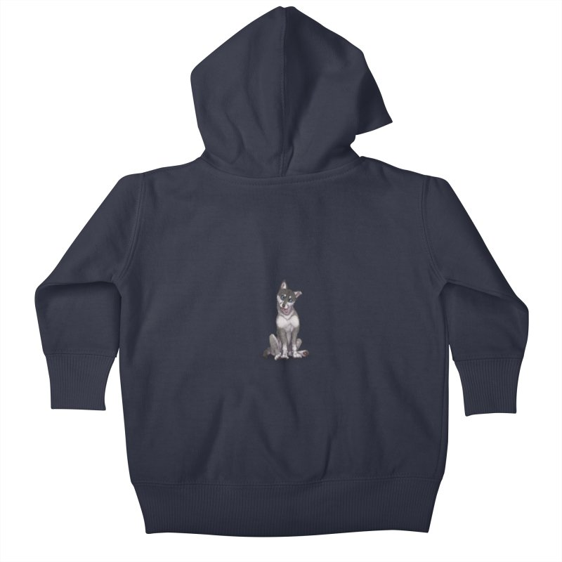 Wolf Pup Kids Baby Zip-Up Hoody by farorenightclaw's Shop
