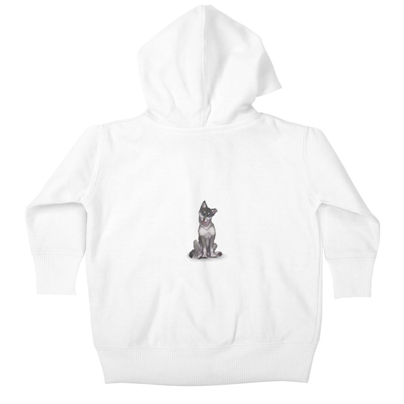 Wolf Pup Kids Baby Zip-Up Hoody by farorenightclaw's Shop