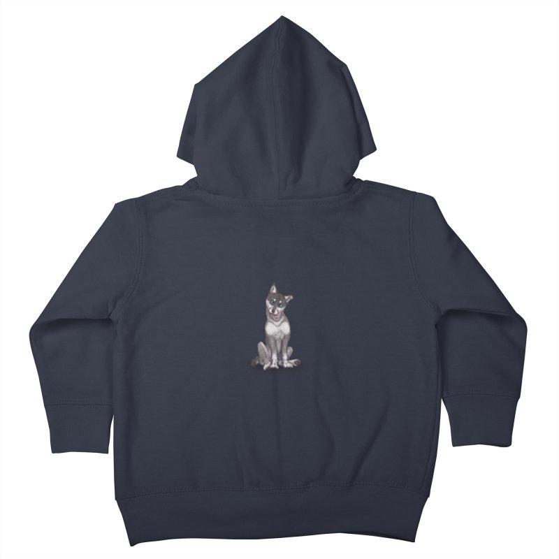 Wolf Pup Kids Toddler Zip-Up Hoody by farorenightclaw's Shop