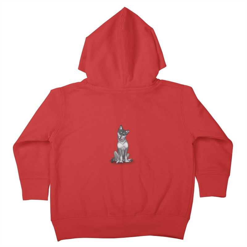 Wolf Pup Kids Toddler Zip-Up Hoody by farorenightclaw's Shop