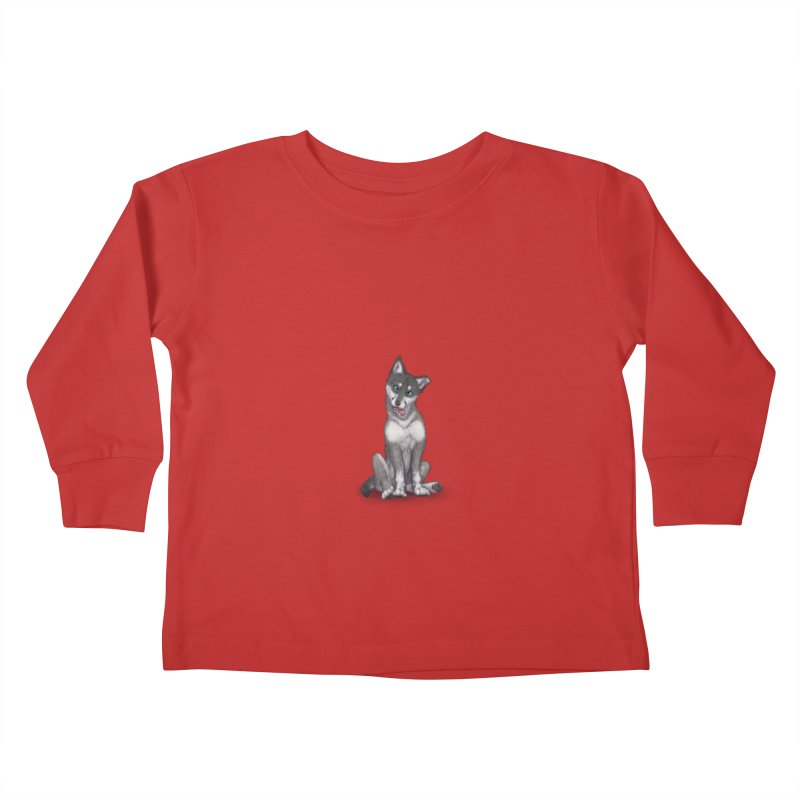 Wolf Pup Kids Toddler Longsleeve T-Shirt by farorenightclaw's Shop