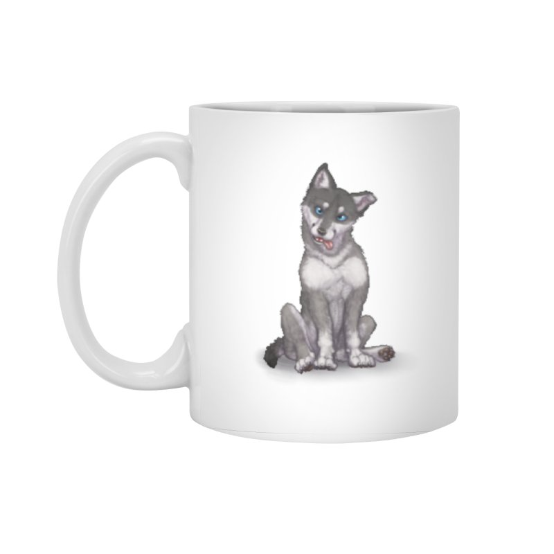 Wolf Pup Accessories Standard Mug by farorenightclaw's Shop