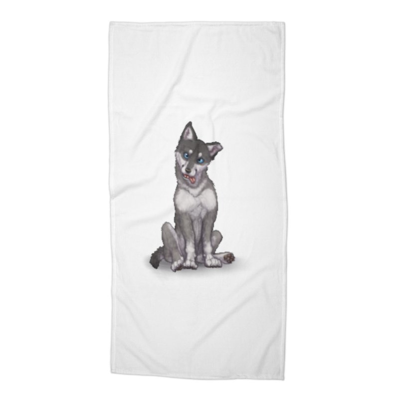 Wolf Pup Accessories Beach Towel by farorenightclaw's Shop