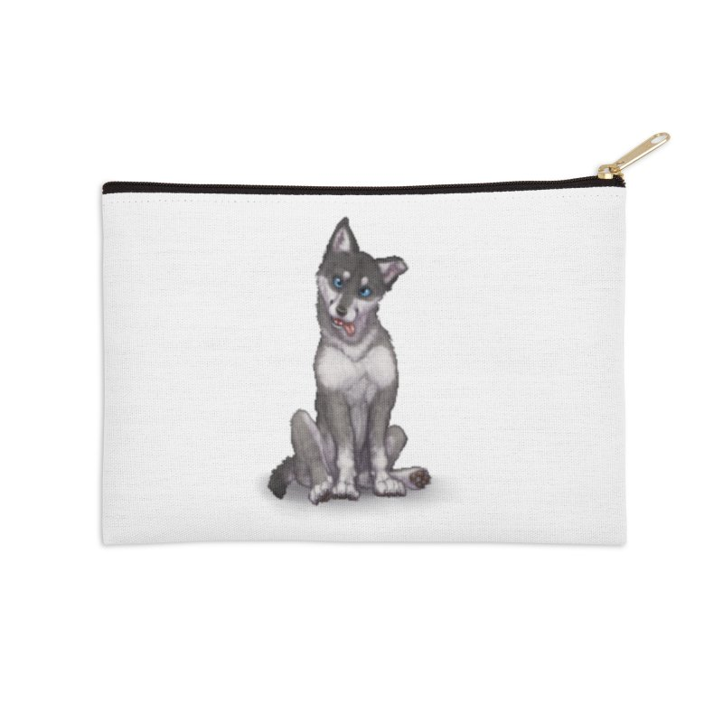 Wolf Pup Accessories Zip Pouch by farorenightclaw's Shop