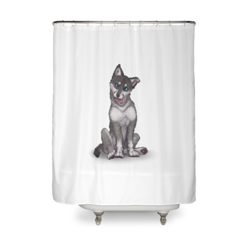 Wolf Pup Home Shower Curtain by farorenightclaw's Shop