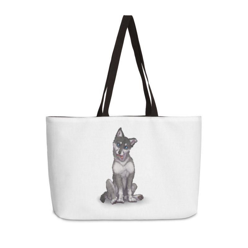 Wolf Pup Accessories Weekender Bag Bag by farorenightclaw's Shop