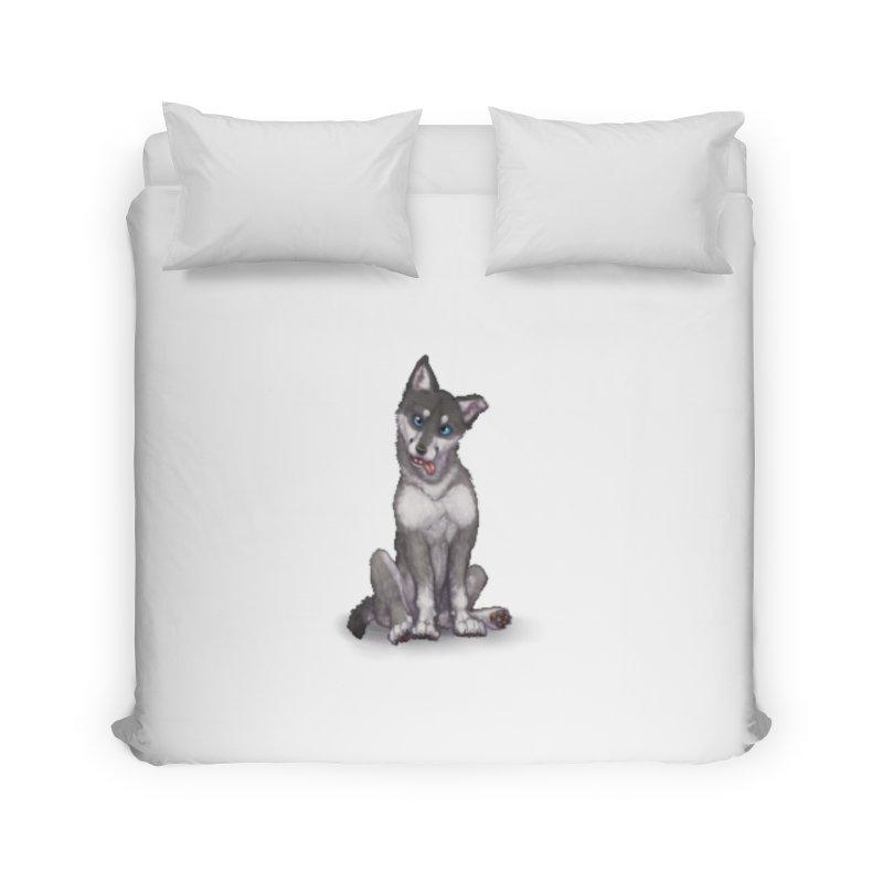 Wolf Pup Home Duvet by farorenightclaw's Shop