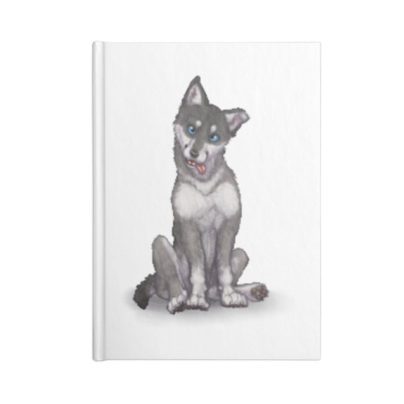 Wolf Pup Accessories Lined Journal Notebook by farorenightclaw's Shop