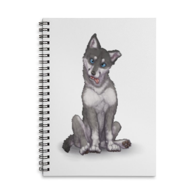 Wolf Pup Accessories Lined Spiral Notebook by farorenightclaw's Shop
