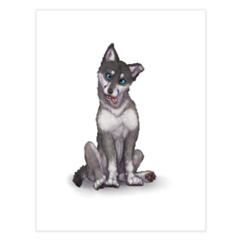 Wolf Pup Home Fine Art Print by farorenightclaw's Shop