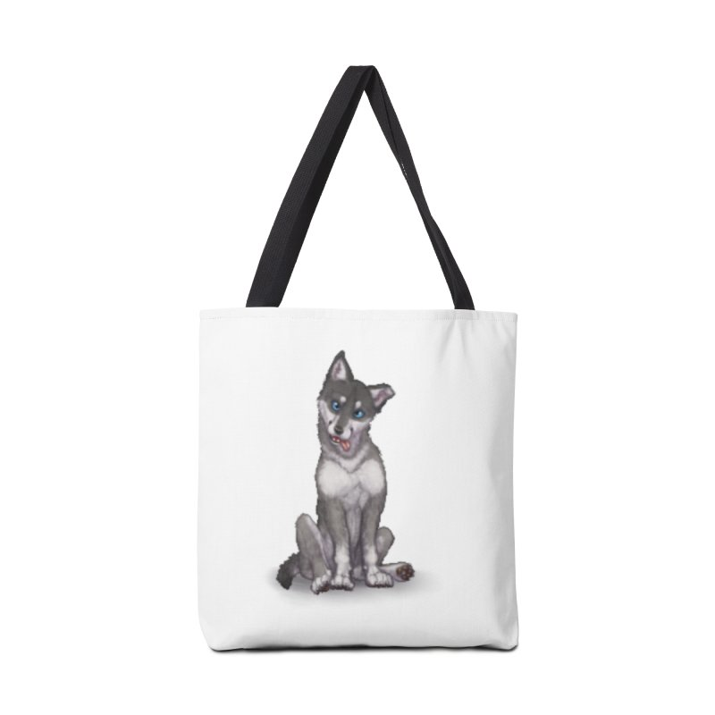 Wolf Pup Accessories Tote Bag Bag by farorenightclaw's Shop