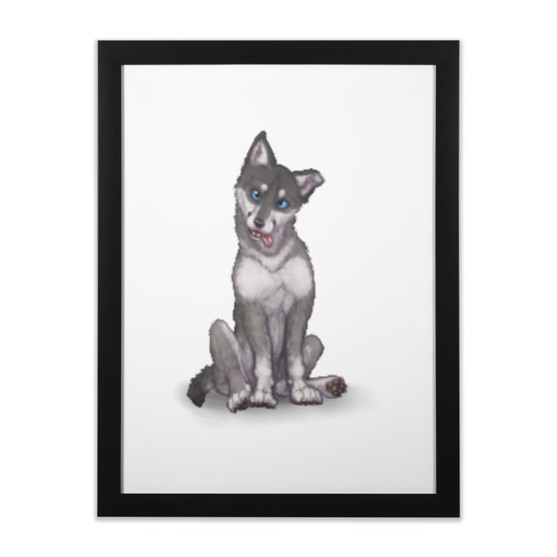 Wolf Pup Home Framed Fine Art Print by farorenightclaw's Shop