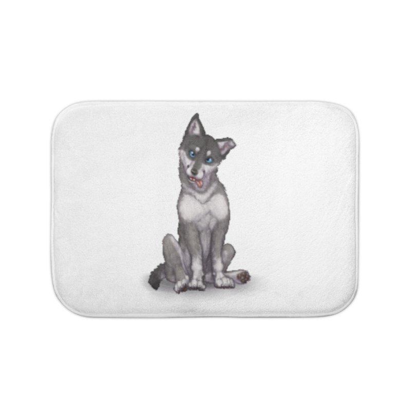 Wolf Pup Home Bath Mat by farorenightclaw's Shop