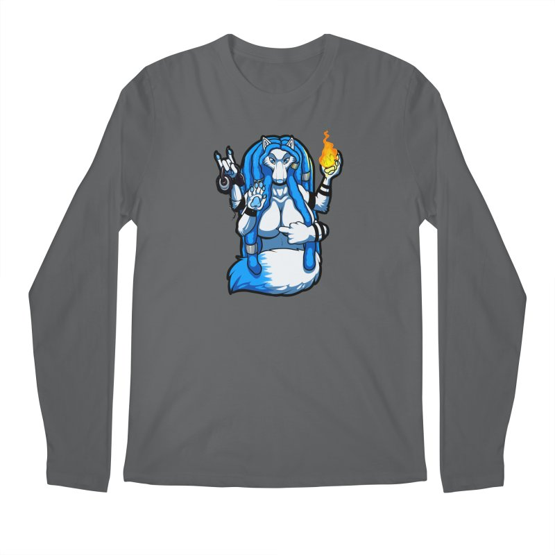 Fox Shiva Men's Longsleeve T-Shirt by farorenightclaw's Shop