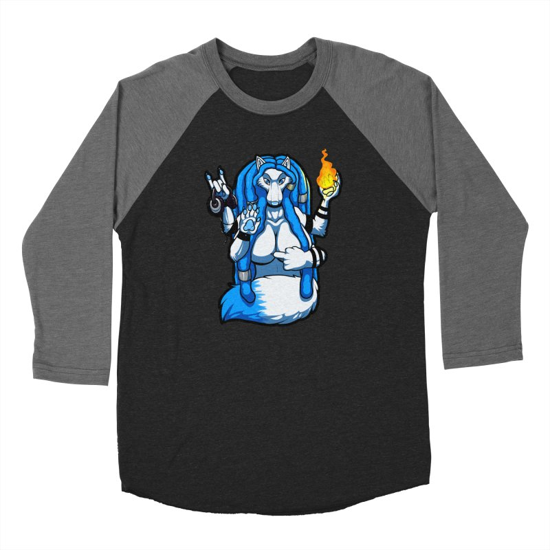 Fox Shiva Women's Baseball Triblend Longsleeve T-Shirt by farorenightclaw's Shop